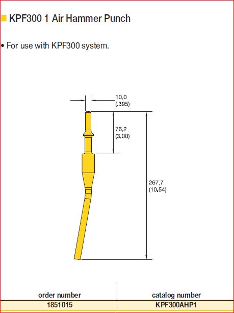 kpf300 air hammer punch